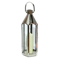 Belize Medium lantern, H60 x L23 x D23cm, stainless steel