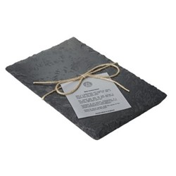Cheese board, L38 x W20cm, grey slate