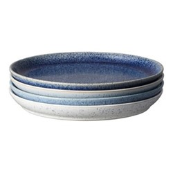 Studio Blue 4 piece coupe dinner plate set, 26 x 3cm, mixed