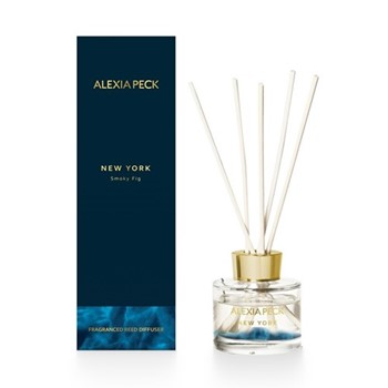 New York - Smoky Fig Fragranced diffuser, L8 x W8 x H26cm, deep blue