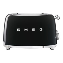 50's Retro 4 slice toaster - 4 slot, black