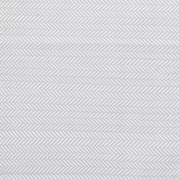 Herringbone Polypropylene indoor/outdoor rug, W76 x L244cm, pearl grey/white
