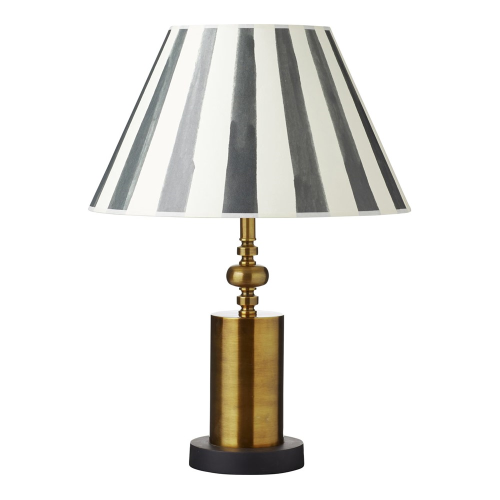Tamri Table lamp - base only, Dia16 x H38, Antique  Brass