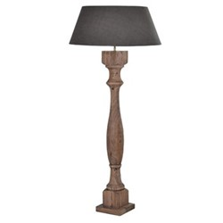 Column Wooden floor lamp, H1.58m, wood