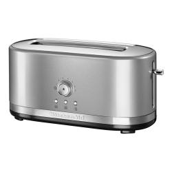 Manual Control Long slot toaster, contour silver