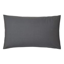 200TC Plain Dye Large pillowcase, L90 x H50cm, graphite