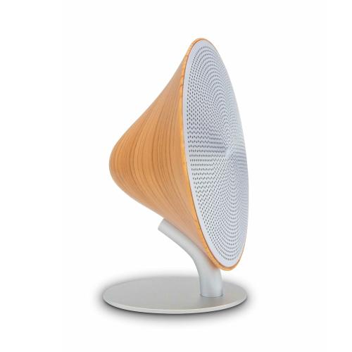 Mini Halo One Bluetooth speaker, H16 x L14 x D6cm, Beech Effect