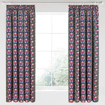 Primula Curtains, L183 x W168cm, navy