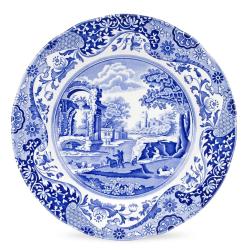 Blue Italian Set of 4 plates, 27cm