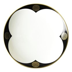 Satori Black Coupe bowl, D25.5 x H4cm, black/white/gold