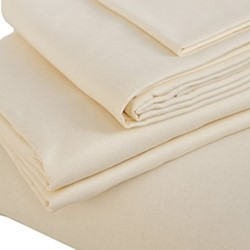 Double flat sheet, 230 x 270cm, oyster white