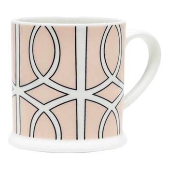 Loop Espresso cup, 6.6 x 6.1cm, blush/white