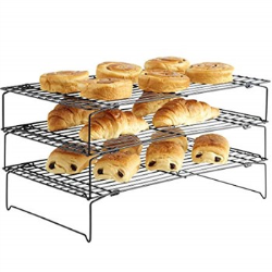 Non-stick tiered cooling rack, 40 x 25cm