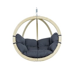 Globo Hanging chair, 121 x 118 x 69cm, anthracite