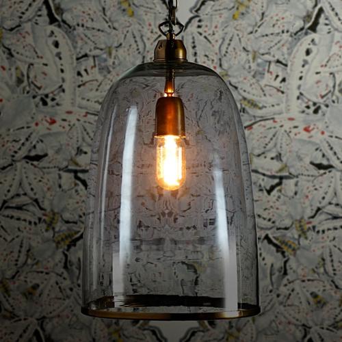 Percy Medium pendant light, D24 x H33cm, Brass Chain