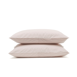 Classic Bedding Pair of housewife pillowcases, 50 x 75cm, rose