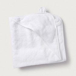 Hydrocotton hooded towel, large, white