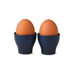 Blue Fluted Pair of egg cups