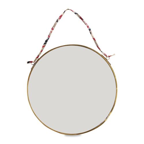 Kiko Round mirror, D0.5 x 26.5cm, antique brass