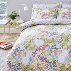 Bloomsbury King size duvet cover and pillowcase set, 220 x 230cm, multi