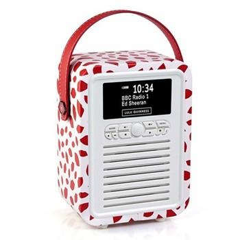 Lulu Guinness Red Lip DAB radio, H22.4 x W14.7 x D10.5cm, multi