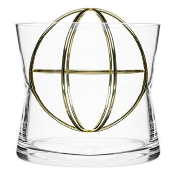 Sphere Large vase, Dia18 x 19cm, gold
