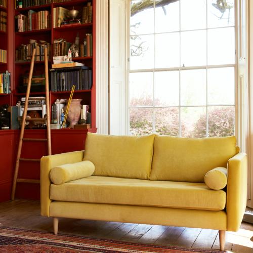 Brindle 2 seater sofa, W145 x H85 x D102cm, Pelham Pear