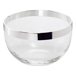Exclusive Bowl, H11.5 x W19cm, crystal and sterling silver
