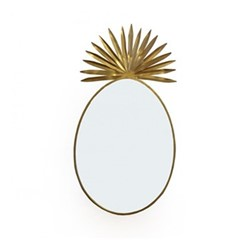 Pineapple Large mirror, Dia100cm, gold