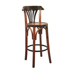 De Luxe Grand Hotel Barstool, H101.5 x D37.5cm, black/honey distressed pine