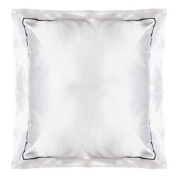 St Tropez Square pillowcase, 65 x 65cm, white/navy