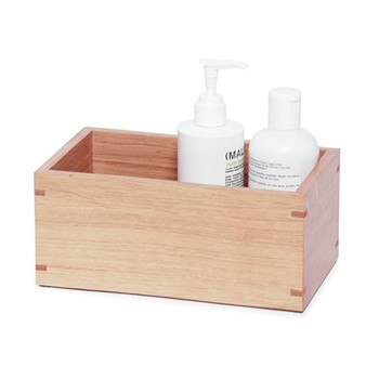 Mezza Storage box, H10 x W23 x D14cm, oak