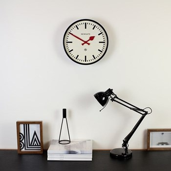 The Luggage Wall clock, 30 x 30 x 7cm, black