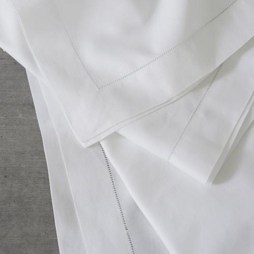 Seville Set of 4 napkins, 45 x 45cm, White
