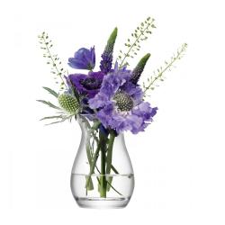 Flower Mini posy vase, 9.5cm, clear