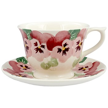 Pink Pansy Teacup and saucer