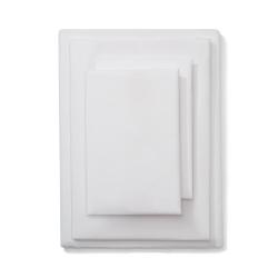 Soft & Smooth Luxury - 600 TC Super king size duvet cover, W200 x L200cm, White
