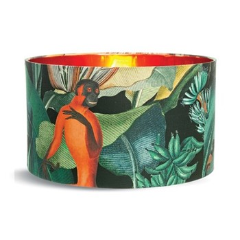 Large drum lampshade with metallic copper lining H30 x L55 x W55cm