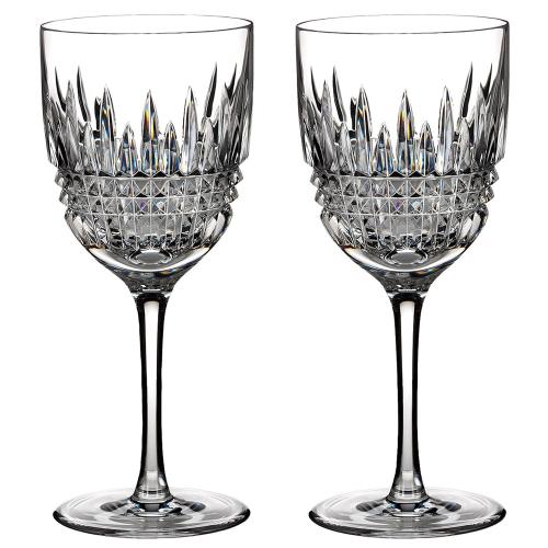 Lismore Diamond Pair of red wine glasses