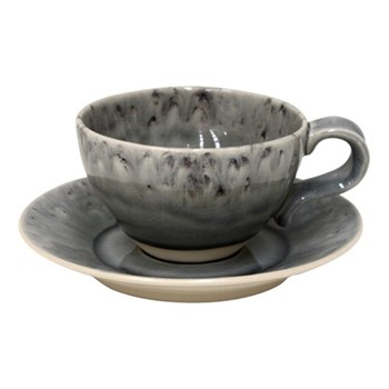 Madeira Set of 6 teacups and saucers, 25cl, grey