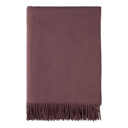 Plain Woven throw, 190 x 140cm, mulberry