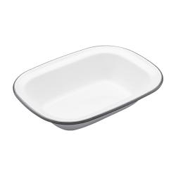 Living Nostalgia Rectangular pie dish, 22cm, white enamel