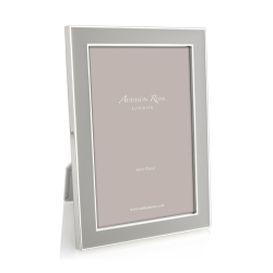 """Enamel Range Photograph frame, 5 x 7"""" with 15mm border, Chiffon With Silver Plate"""