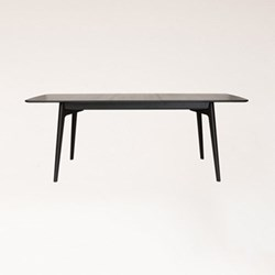 Wenge extending dining table H74.5 x W158 x D90cm