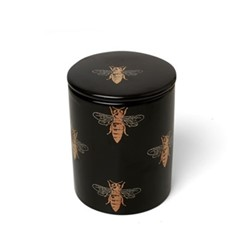 Bee Small candle, H10 x W10cm, black
