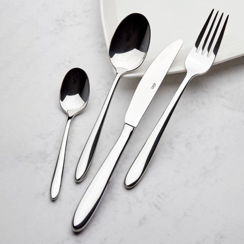 Aspira 60 piece cutlery set, mirror finish polished