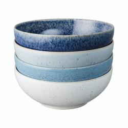 Studio Blue 4 piece cereal bowl set, 17cm