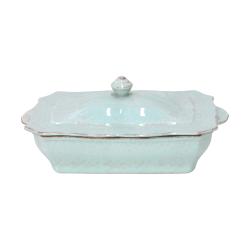 Impressions Covered rectangular casserole dish, L32 x W18 x H14cm, Turquoise