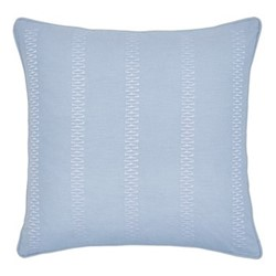 Birch Square cushion, 40cm, sky blue
