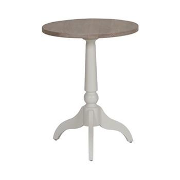 Suffolk Round side table, W45 x D45 x H57cm, silver birch